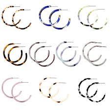 <b>Bohemia</b> Statement Hoops <b>Acrylic</b> Resin Round Circle Stud <b>Earring</b>