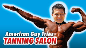 Image result for a tanning guy
