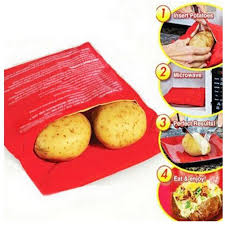 <b>1PC</b> Red <b>Microwave Potato Bag</b> Baking Cooking <b>Bag</b> Washable ...