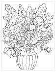 Раскраски сад цветы