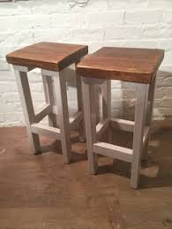 A Pair (X2) Hand Painted F&B Rustic <b>Reclaimed Solid</b> Wood ...