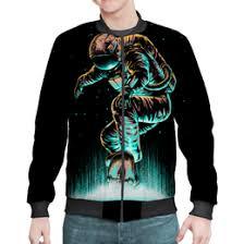 Бомберы мужские с символикой космонавт