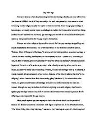 gay marriage   persuasive essay    a level sociology   marked by    page  zoom in