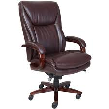 la z boy edmonton big and tall comfortcore traditions bonded leather executive office chair in coffee brownwalnut 45764 the home depot big office chairs executive office chairs