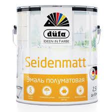 <b>Эмаль</b> полуматовая <b>Dufa Retail</b> Siedenmatt белая 2,5 л купить ...