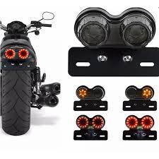 Waterproof LED <b>Motorcycle Turn Signal</b> Brake License Plate ...