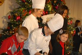 u s department of defense photo essay first lady michelle obama and white house chefs help military children decorate cookies and create or nts