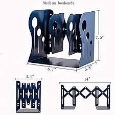 Y-H Medium Adjustable Decorative <b>Metal Iron</b> Bookends, <b>3 Grids</b> ...