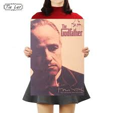 TIE LER <b>Godfather</b> Movie Poster Series <b>Vintage</b> Kraft Paper Poster ...