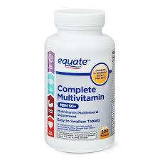 Equate <b>Complete Multivitamin</b> Tablets, <b>Men</b> 50+, 200 Count ...