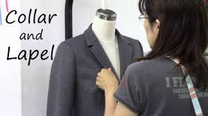 How to sew a <b>Collar</b> and <b>Lapel</b> of a Tailored Jacket - YouTube