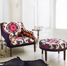 the first thought that came to mind when i saw the bold pattern was bohemian with modern quickly following bohemian furniture