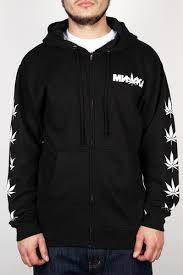 <b>Толстовка MISHKA Cyco Sativa</b> Zip Up Hoodie (Black, L) | xn ...
