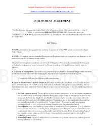 this post addresses employment contracts