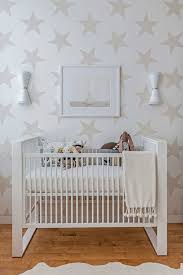 modern neutral white nursery the statement making star wallpaper gives this nursery an bedroom cool bedroom wallpaper baby nursery