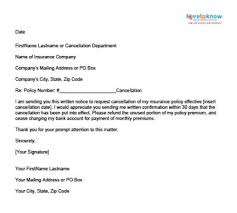 sample insurance cancellation letter write termination letter