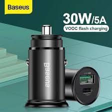 <b>Baseus</b> 30W PPS Quick Car <b>Charger</b> 4A VOOC Flash <b>Charging</b> For ...