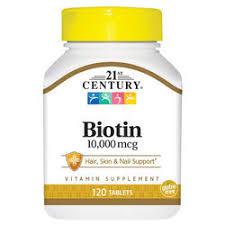 Купить 21st Century <b>Биотин</b> - <b>10000 мкг</b> - <b>120</b> таблеток - eVitamins ...