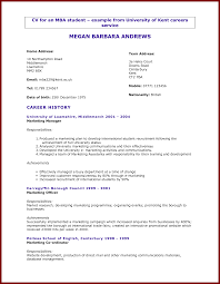 17 cv for uni students sendletters info international business mba international business cv