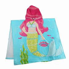 100 Cotton Hooded Towel Printed Pattern Beach Wear Kids Cloak Hoody Bath Hoodie Children   E