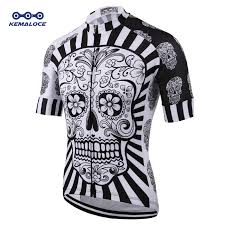 White <b>Skull</b> Sublimation Printing <b>Cycling Jersey</b> Best 2019 Pro ...