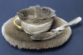 surrealism an introduction smarthistory meret oppenheim object 1936 fur covered cup saucer and spoon