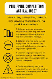 salient features of republic act philippine competition act competition act