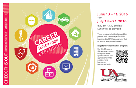 uaccm the campus link career exploration explosion career exploration explosion