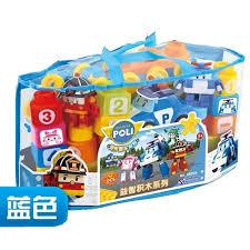 <b>57 Pcs Poli Robocar</b> Version Building Blocks Bricks Gift Toy Big Size ...