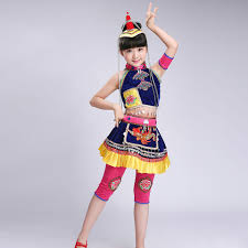 Kids Hmong Clothes Ballroom Dance Wear <b>Miao</b> Costumes with <b>Hat</b> ...