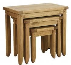 verona rustic oak nest of tables baumhaus mobel oak nest
