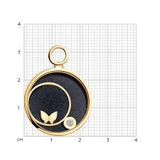 Золотая <b>подвеска</b> charm с <b>бабочкой SOKOLOV</b> – купить в ...