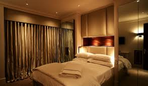 bedroom accent lighting mysterious atmosphere bed lighting home