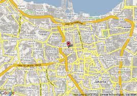 peta hotel borobudur jakarta: Map of borobudur jakarta hotel jakarta