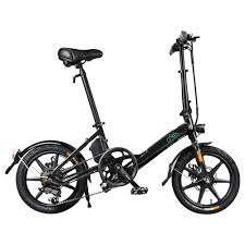 <b>FIIDO D3S Folding</b> Moped <b>Electric Bike</b> Gear Shifting Version Black
