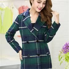 <b>2019</b> Autumn Winter Parkas New Plaid Woolen Coat Slim <b>Fashion</b> ...