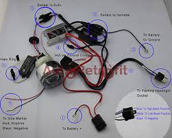 motorcycle hid bi xenon projector lens wiring diagram â' red wire connect to battery positive