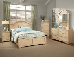 superior diy bedroom furniture set design in natural pine wooden queen bed frame with curved headboard next to cream drum shade table lamp above bedside and bedroom furniture diy