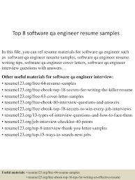top software qa engineer resume samples