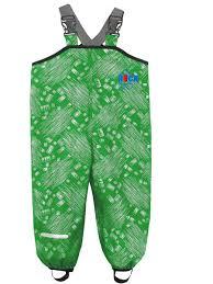 <b>Полукомбинезон детский</b>, <b>непромокаемый</b>, цвет зеленый <b>DUCK</b> ...