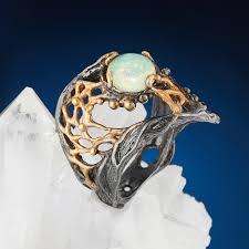 Купить <b>Кольцо опал благородный голубой</b> Эфиопия (серебро ...