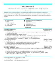 administrative assistant resume example examples of resumes for administrative positions