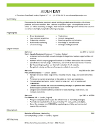marketing advertising and pr resume template for microsoft word looking at the format below you can out what to include like a summary statement details about your skills information about your work history and