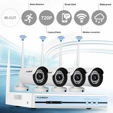 <b>Floureon 4CH Wireless CCTV</b> 1080P DVR Kit Outdoor Wifi WLAN ...