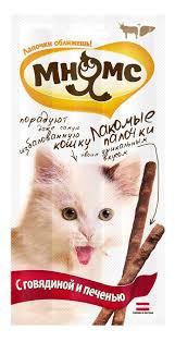 """<b>Лакомые палочки</b> для кошек """"<b>Мнямс</b>"""", с <b>говядиной</b> и печенью, 3х5 ..."""