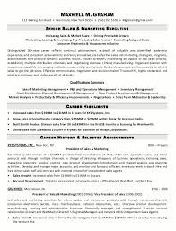 Example Resume  Career History For Sales And Marketing For Best Marketing Resume Samples  Best