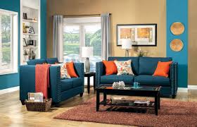 pleasant warm living room interior decorating ideas with elegant sofa dark brown trendy furniture set for blue dark trendy living room