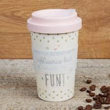 Eco <b>Bad</b> Influence But <b>Fun</b> Bamboo Travel Mug With Screw Lid ...