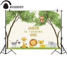<b>Allenjoy photography background</b> tropical animal birthday party ...
