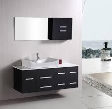 element contemporary bathroom vanity set: design element springfield single  inch modern wall mount bathroom vanity set